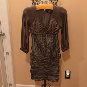 Nicole Miller fitted gathered dress
